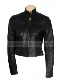 Penelope Reese Witherspoon Black Leather Jacket