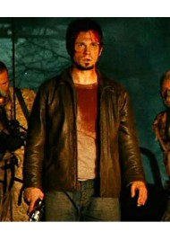 Planet Terror Freddy Rodriguez Distressed Brown Leather Jacket