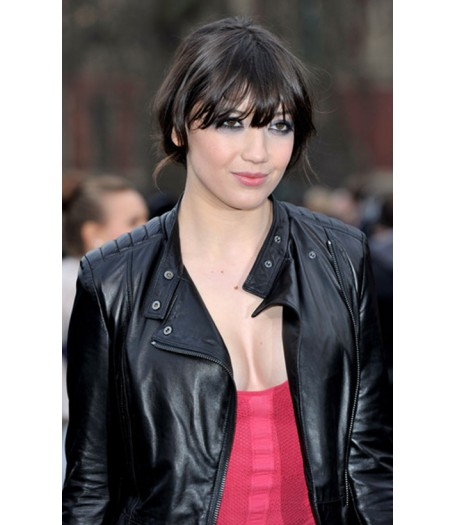 Daisy Lowe Quilted Black Leather Jacket