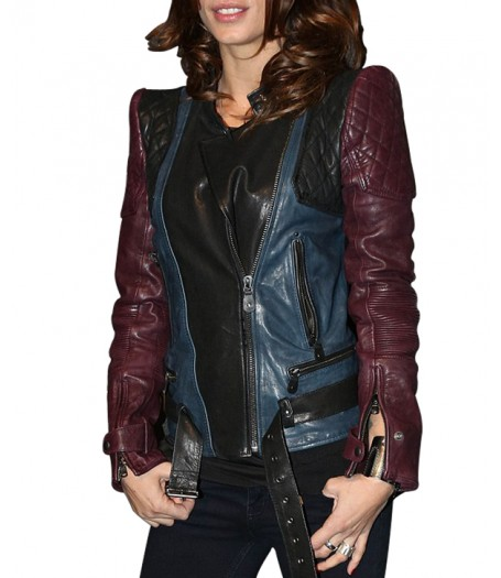 Elisabetta Canalis Quilted Leather Jacket