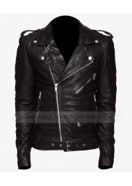 Racing Biker Jared Leto Leather Jacket