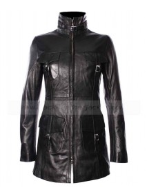 Real Lambskin Womens Fitted Leather Jacket Coat