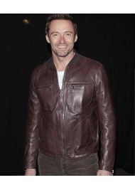 Rebel With A Cause Hugh Jackman Brown Leather Biker Jacket