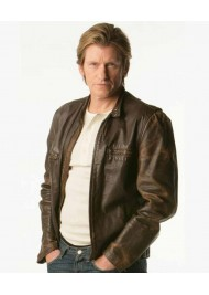 Rescue Me Brown Tommy Gavin Leather Jacket