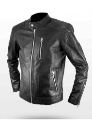 Retro Street Genuine Biker Leather Jacket