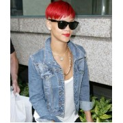 Rihanna Denim Blue Jean Jacket