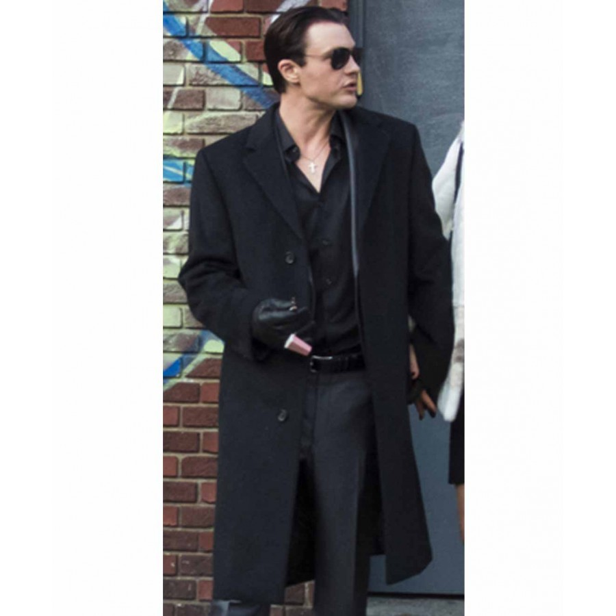 Long Black Coat for Men | Michael Pitt Coat