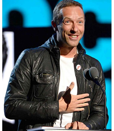 Rock N Roll Chris Martin Leather Jacket