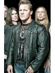 Fozzy Band Chris Jericho Rocking Black Leather Jacket