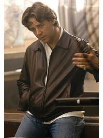 American Gangster Russell Crowe Brown Leather Jacket