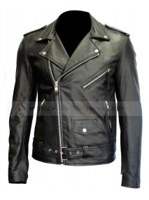 Ryan Gosling Motorcycle Black Leather Jacket