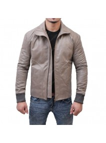Ryan Reynolds Brown Leather Biker Jacket