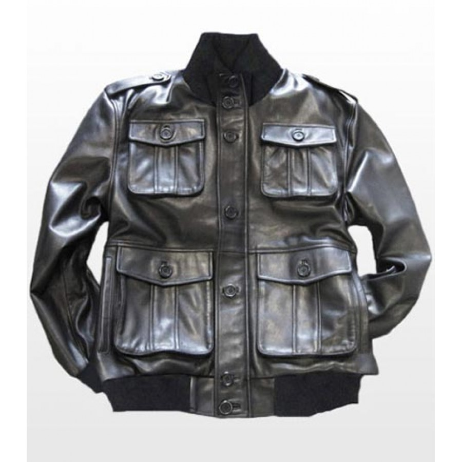 Mens Leather Army Jackets - Jacket