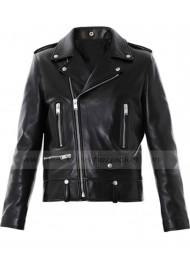 Saint Laurent Leather Biker Jacket for Mens