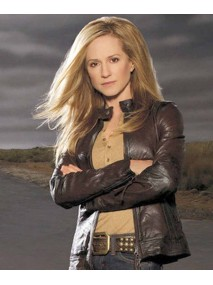 Saving Grace Holly Hunter Brown Leather Jacket