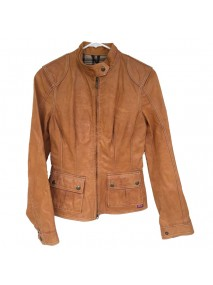 The Avengers Scarlett Johansson Tan Leather Jacket