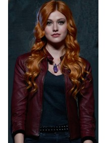 Shadowhunters Clary Fray Red Leather Jacket