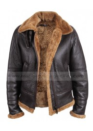 Shearling Bomber Sheepskin Leather Jacket with Hoodie for Womens