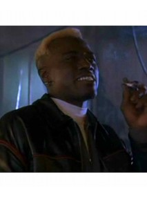 Wesley Snipes Demolition Man Black Leather Jacket