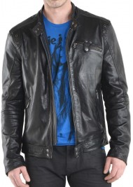 Simple Look Designer Black Leather Jacket