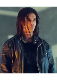 Sky High Steven Strait (Warren) Black Leather Jacket