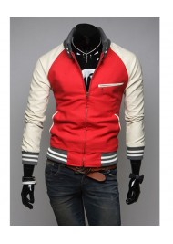 Slim Fit Red Mens Casual Sports Jacket