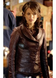 Kristin Kreuk Smallville Lana Lang Leather Jacket