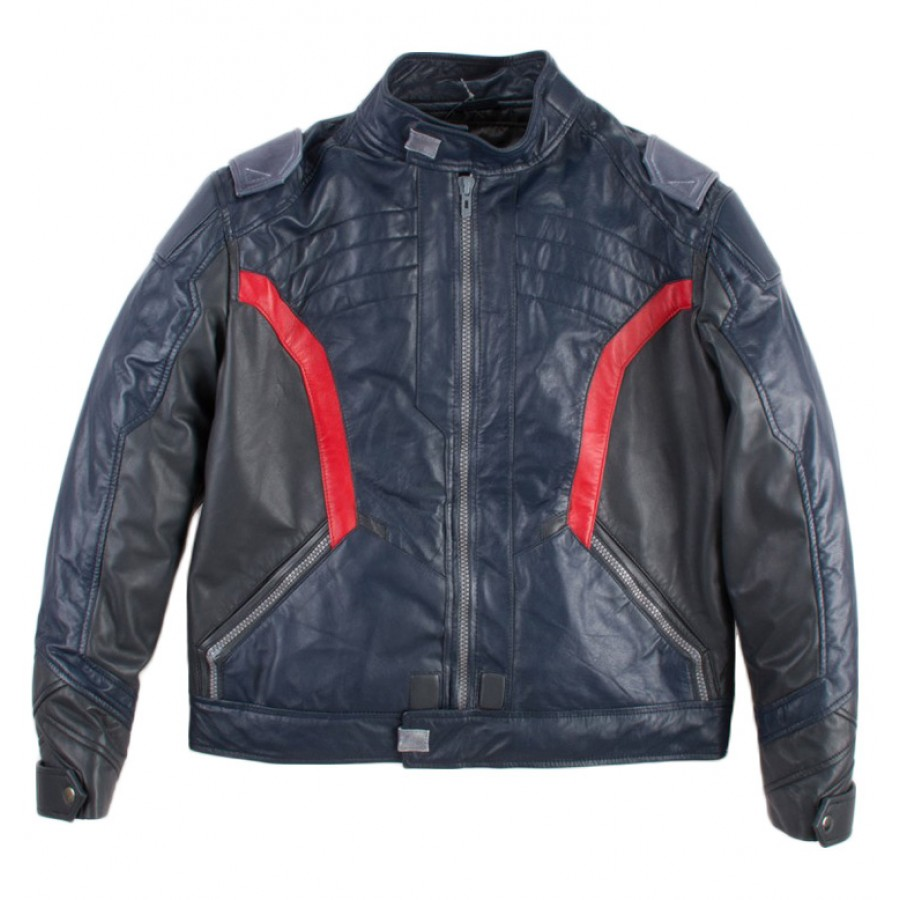 X-Large Mens Soldier 76 Green Leather Jacket