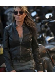 Sons Of Anarchy Katey Sagal Biker Leather Jacket