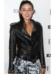 Caroline D'amore Spiked Leather Jacket