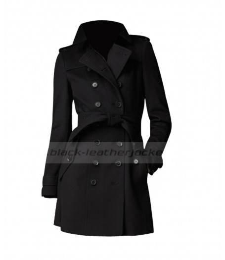 Squirrels To The Nuts Jennifer Aniston Short Trench Coat