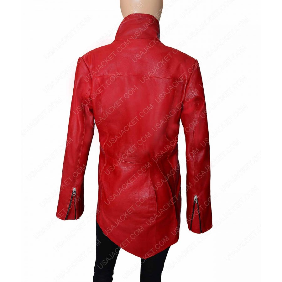 Red Leather Jacket Women | Ladies Designer Jacket