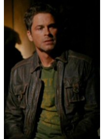 Ted Cogan Stir of Echoes 2 Brown Leather Jacket
