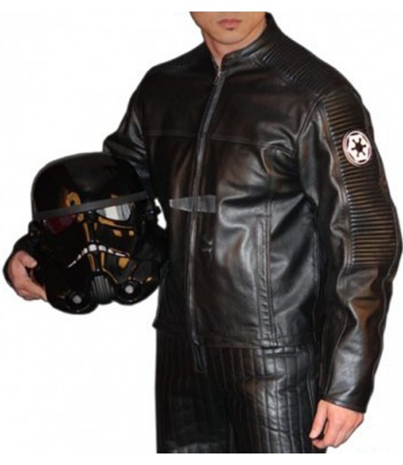 Star Wars Stormtrooper Motorcycle Black Jacket