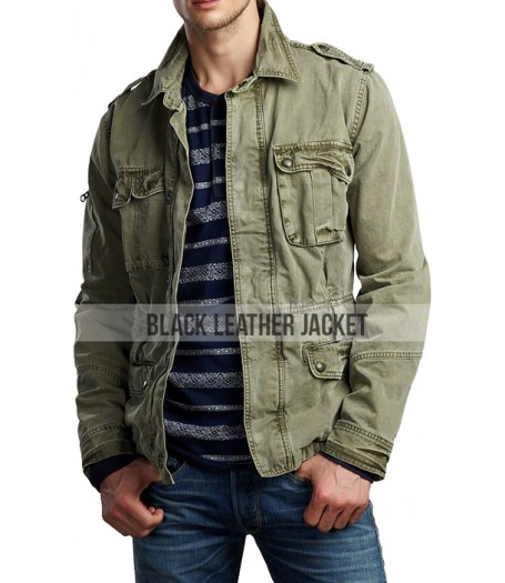 Supernatural Season 5 Jared Padalecki Green Twill Jacket