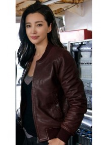 Bingbing Li Meg Movie Suyin Leather Jacket