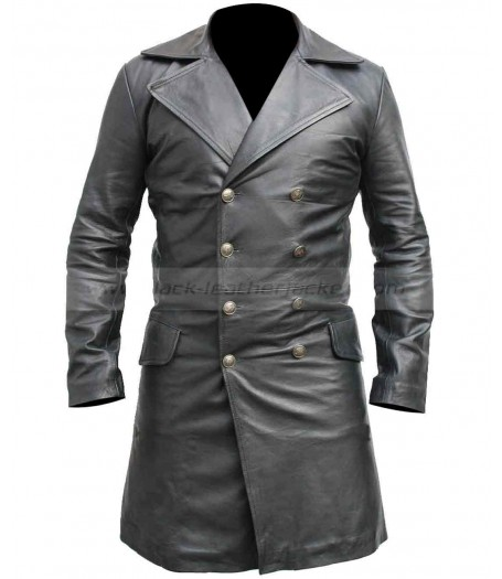 Sweeney Todd Long Johnny Depp Leather Coat