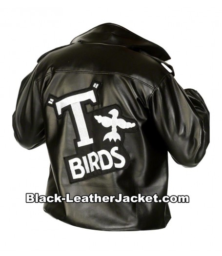 T-Birds John Travolta Black Leather Jacket