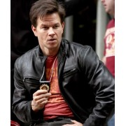 The Other Guys Black Mark Wahlberg Leather Jacket