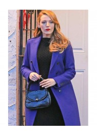The Age of Adaline Blake Lively Blue Trench Coat