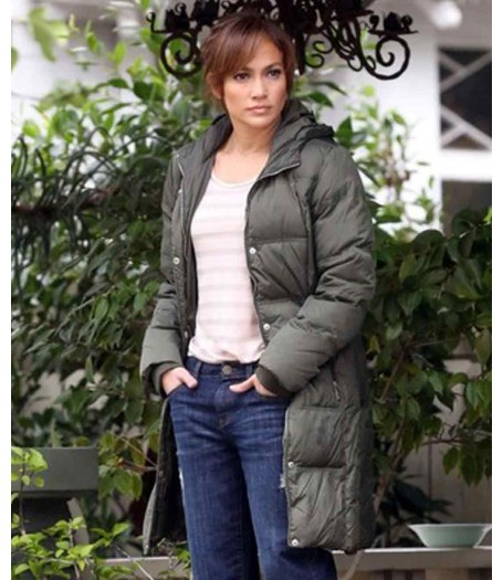 The Boy Next Door Film Jennifer Lopez Hooded Puffer Coat