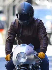 The Captive Film Ryan Reynolds Brown Leather Motorcycle Jacket