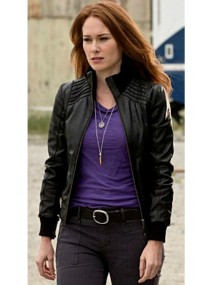The Flash American TV Series Kelly Frye Black Leather Jacket