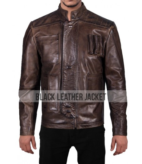 Star Wars The Force Awakens Han Solo Leather Jacket