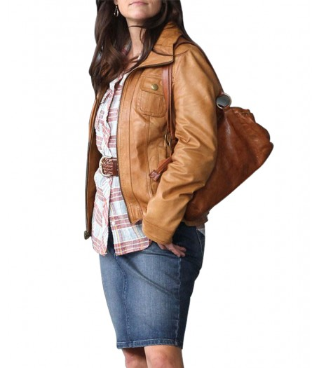 Carrie Davis The Good Lie Film Reese Witherspoon Leather Jacket