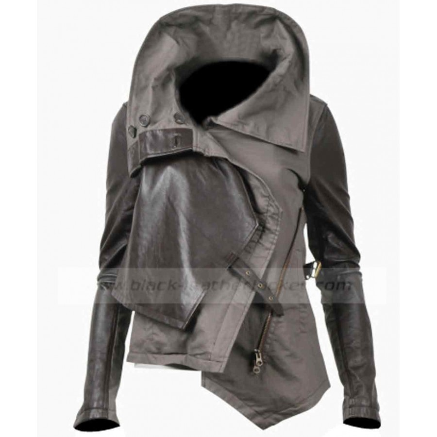 Everdeen Jacket Fire The Hunger Games Leather Katniss Catching IH9WED2