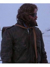 The Thing RJ MacReady Brown Leather Jacket
