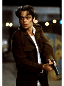 Benicio Del Toro The Way of The Gun Brown Jacket