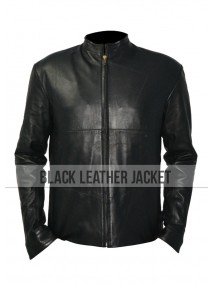 Tom Cruise Minority Report Black Leather Jacket