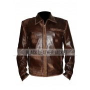 Surrogates Tom Greer Bruce Willis Leather Jacket